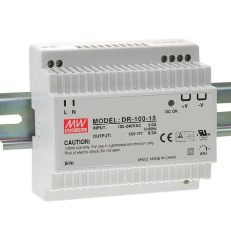 DR 100 1 450x450 - منبع تغذیه DR-100-15 - dr, din-rail, meanwell -
