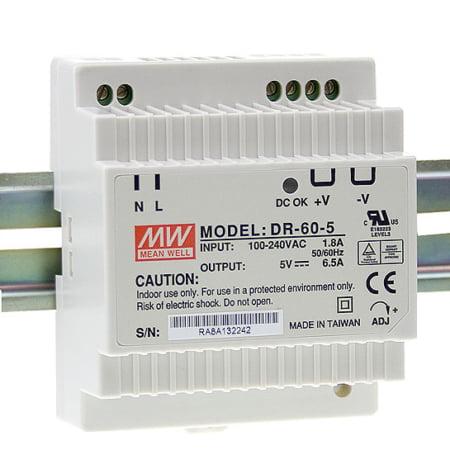 DR 60 1 450x450 - منبع تغذیه DR-60-24 - dr, din-rail, meanwell -