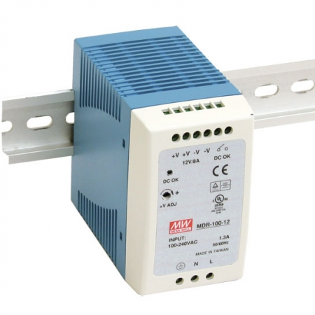 MDR 100 450x450 - منبع تغذیه MDR-100-24 - mdr, din-rail, meanwell -
