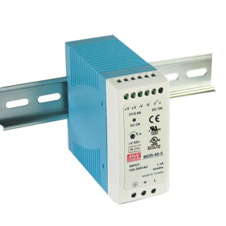 MDR 40 450x450 - منبع تغذیه MDR-40-24 - mdr, din-rail, meanwell -