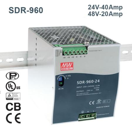 SDR 960 240@MEANWELLIRAN.COM 450x450 - منبع تغذیه TDR-960-48 - din-rail, meanwell, tdr-series -