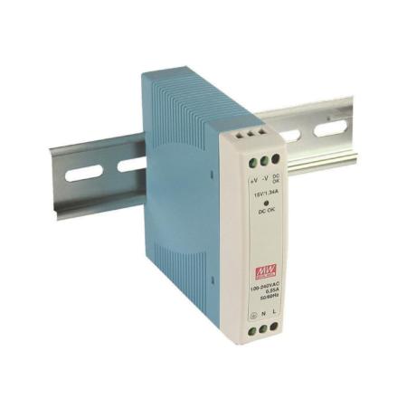 power supply din rail 450x450 - منبع تغذیه MDR-20-24 - din-rail, meanwell, mdr -