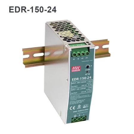 EDR150 24 450x450 - منبع تغذیه EDR-150-24 - din-rail, meanwell, edr -