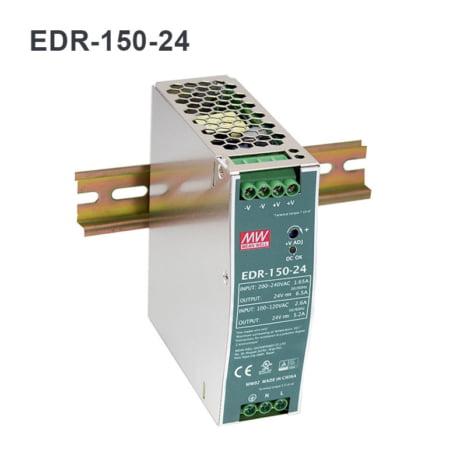 EDR150 24 450x468 - منبع تغذیه EDR-150-24 - din-rail, meanwell, edr -