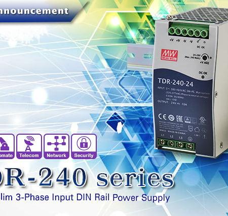 1540476804 TDR 240 450x425 - منبع تغذیه ریلی ورودی سه فاز TDR-240-24 - din-rail, meanwell, tdr-series -
